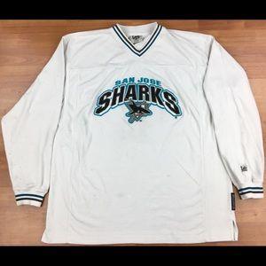 Vintage Lee Sport NHL San Jose Sharks L/S Shirt
